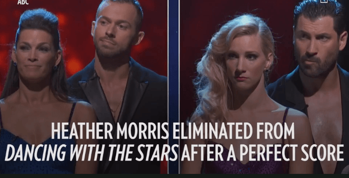 Maksim Chmerkovskiy & Heather Morris Voted Off 'DWTS' – after a perfect score.