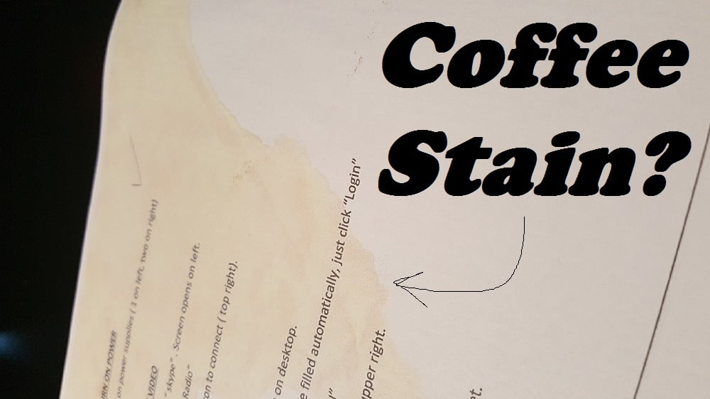 "LISTEN: The ""Coffee Stain"""