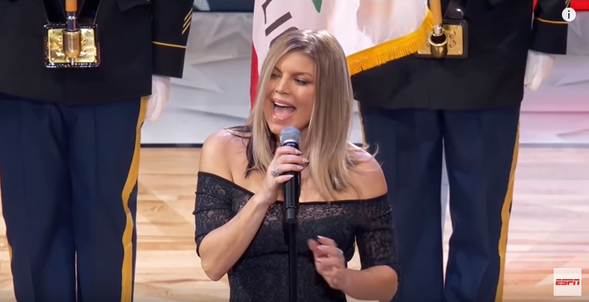 FERGIE SPEAKS OUT ON CONTROVERSIAL NATIONAL ANTHEM RENDITION