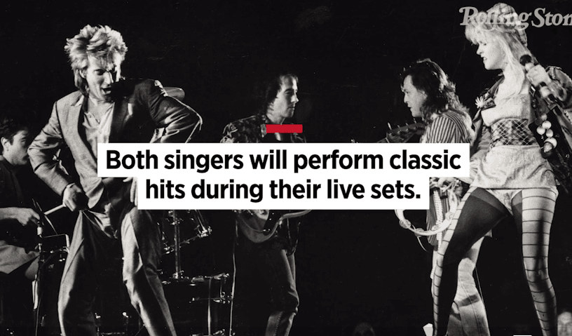Rod Stewart and Cyndi Lauper Team Up for Summer Tour