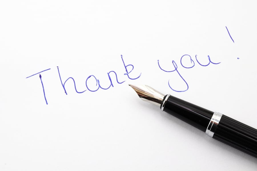 PODCAST: The power of a hand written thank you note