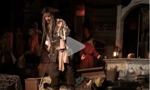 Surprise! Johnny Depp appears at Disneyland as Capt. Jack Sparrow