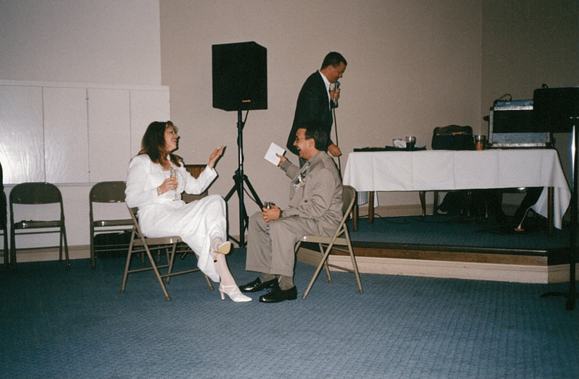 LISTEN: The happiest wedding picture ever