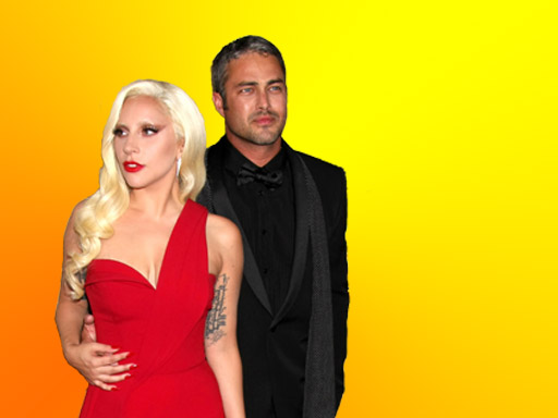 HOLLYWOOD OUTSIDER: Taylor Kinney and Lady Gaga